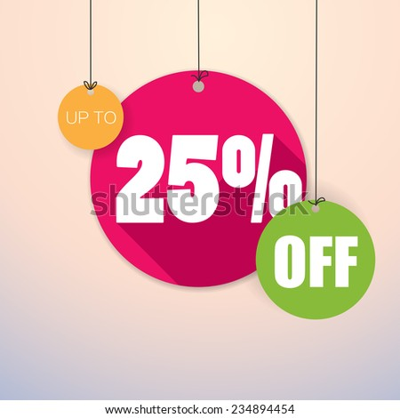 Sale Up to 25% - Colorful and fresh Vector Poster - stock vector