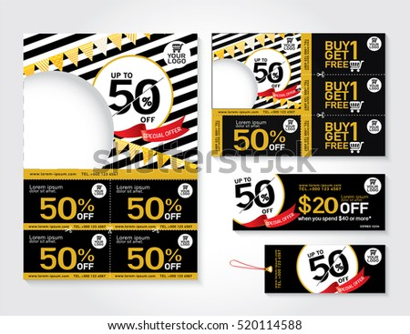 Sale Flyer Promotions Coupon Banner Design Stock Vector 311166701