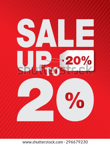 SALE UP TO SET 20% - stock vector