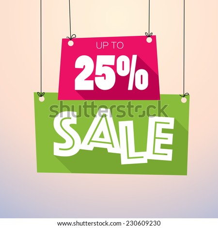 Sale Up to 25% - Vector Poster - stock vector