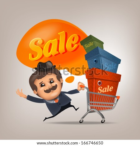 Sale. Vector format - stock vector