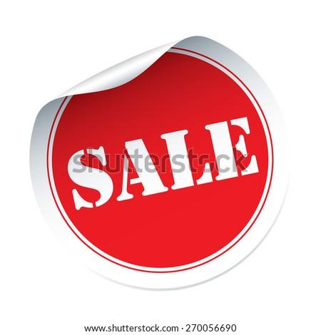 Sale vector sticker - stock vector