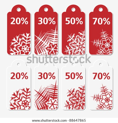 Sale winter tags