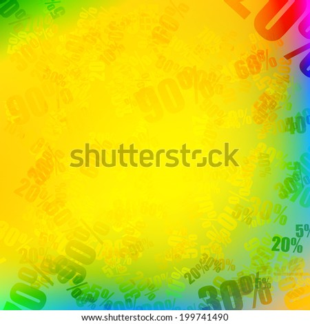 Sale with percent discount pattern. EPS10 - stock vector
