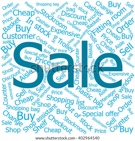 sale,Word cloud art background