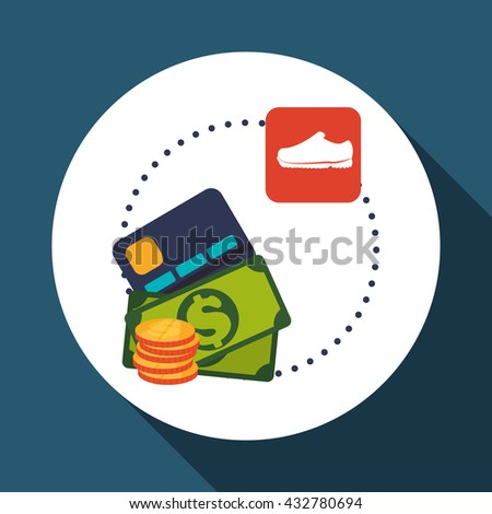 Sales and retail design. Shopping icon. White background , vector