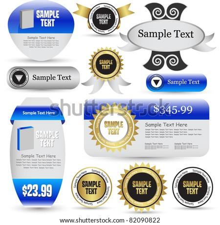 sales banner vector - stock vector