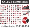 sales, commerce icons set - stock vector