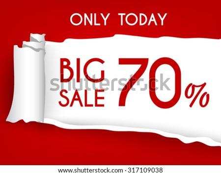Sales coupon  70 %. Vector 100% - stock vector