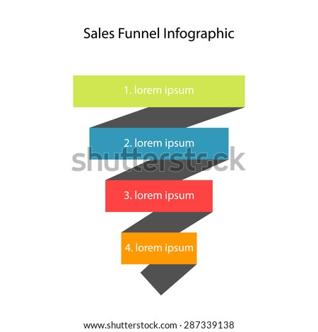 Sales funnel. Vector illustration. - stock vector