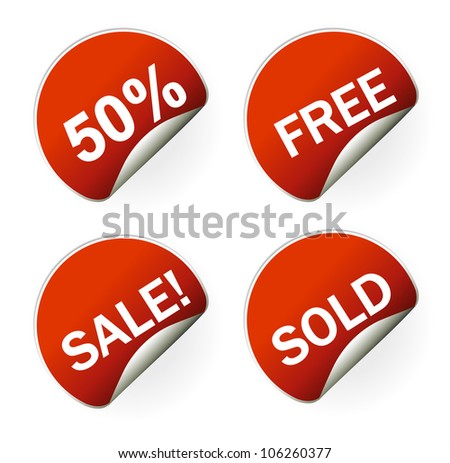 sales sticker tag with discounted percentage and other message
