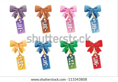 Sales tag isolated on white background