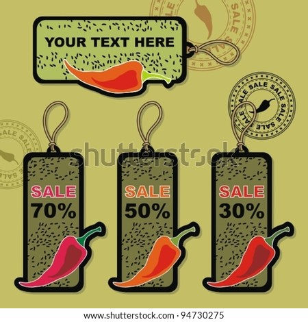 Sales Tags. - stock vector