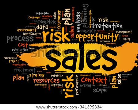 Sales word cloud, business concept background - stock vector