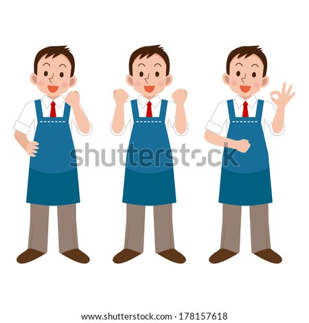 Salesperson smile - stock vector