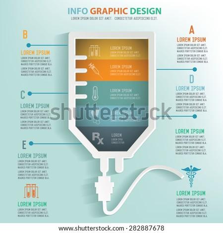 Saline info graphic design, Business concept design. Clean vector. - stock vector