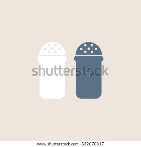 Salt and pepper spice icon