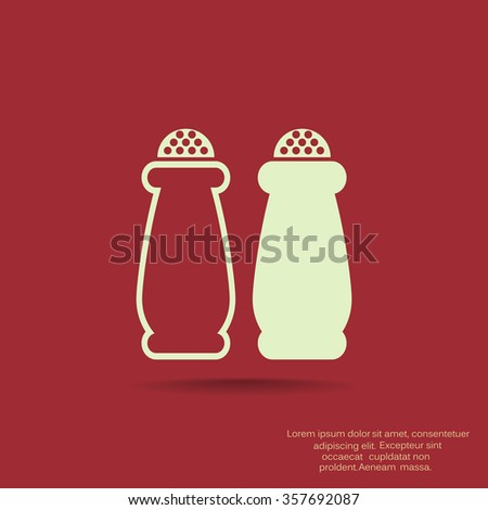 Salt and pepper, web icon. vector design
