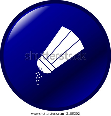 salt or pepper button - stock vector