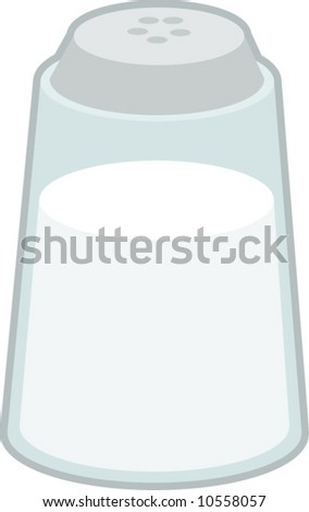 salt shaker - stock vector