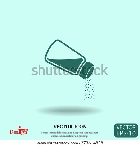 salt vector icon - stock vector