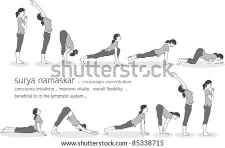 yoga sun salutation stock photos images  pictures