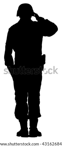 saluting army soldiers silhouette vector isolated on white background memorial day veterans day