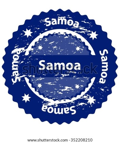 Samoa Country Grunge Stamp - stock vector