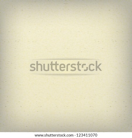 Sample beige paper with a cut. Vector. - stock vector
