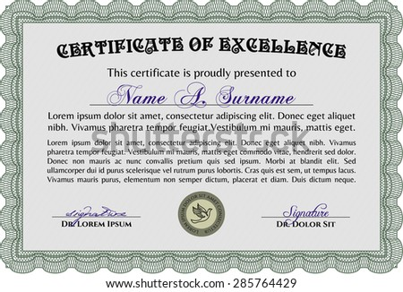 sample certificate nice design complex linear stock vector  sample certificate nice design complex linear background diploma of completion