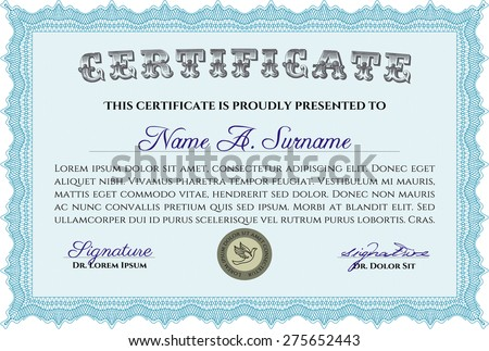 sample certificate diploma beauty design complex stock vector  sample certificate or diploma beauty design complex background detailed
