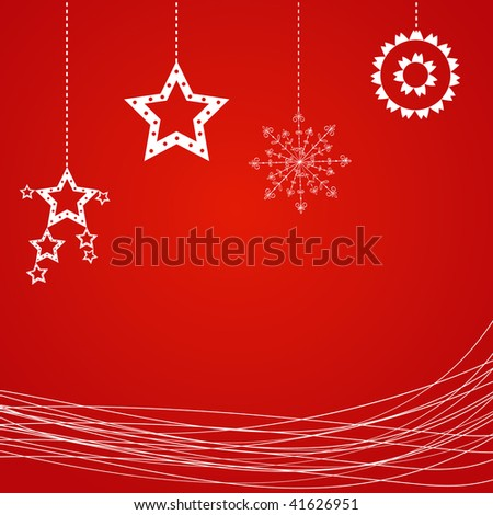Sample Christmas background with snowflake. Vector illustration. - stock vector