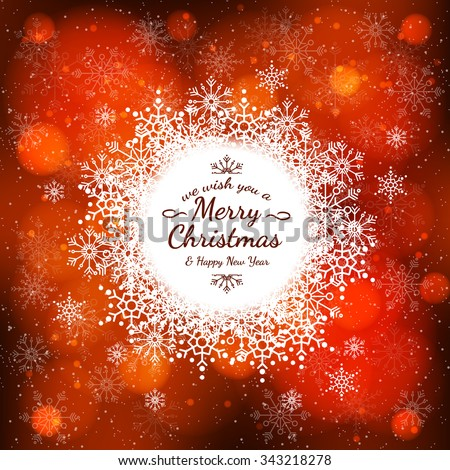 Sample Christmas colorful cards with text. The texture of the snowflakes. Bright winter background for greetings, invitations and other cards. Vector. - stock vector