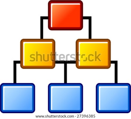 sample diagram - stock vector