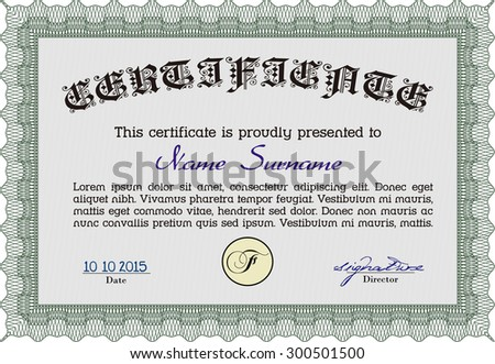 Sample diploma frame certificate template vectorwith stock vector sample diploma frame certificate template vectorwith quality background good design yelopaper Images