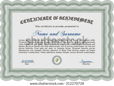 Certificate Excellence Template Stock Vector 151221581 - Shutterstock
