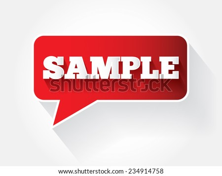 Sample message bubble, vector background