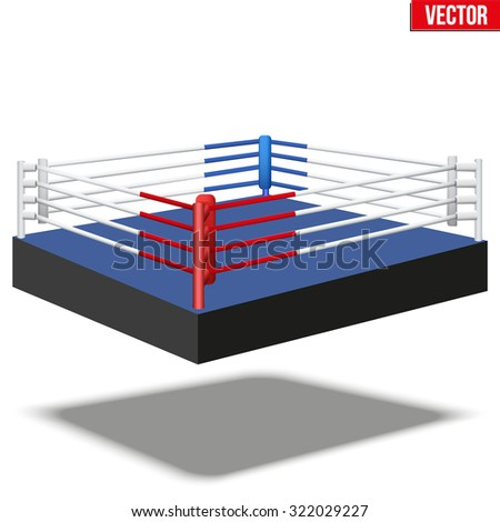 Sample of boxing prize ring a simple design. Vector Illustration isolated on white background.