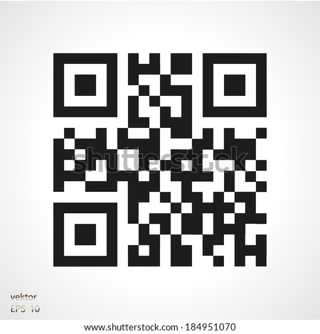 sample qr code ready to scan with smart phone - stock vector