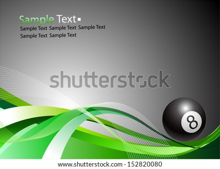 Sample text. ball Billiards - stock vector