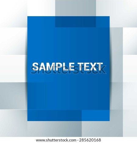 sample text  blue and gray abstract typography background - Vector Design Concept