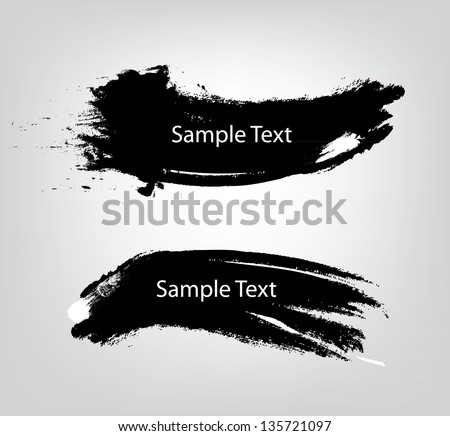 Sample text on vector brush