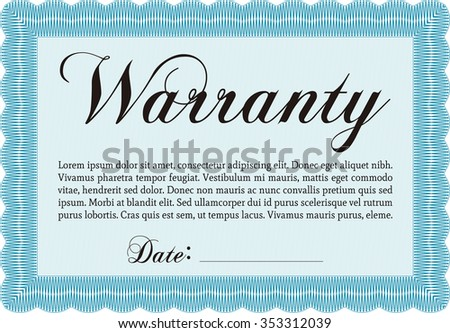 Sample warranty certificate template complex border stock photo sample warranty certificate template complex border design very detailed with complex background thecheapjerseys Choice Image