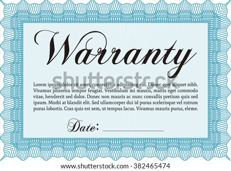 Warranty certificate template retro design complex stock vector sample warranty certificate template elegant design vector illustration with guilloche pattern yelopaper Choice Image