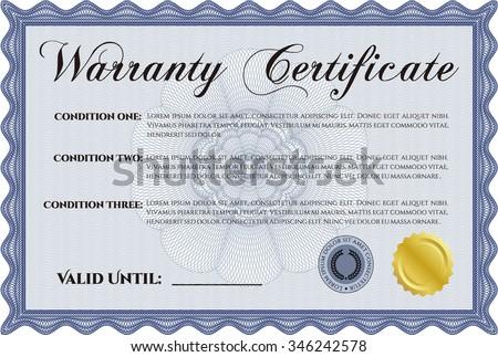 warranty certificate template - Warranty Certificate Template