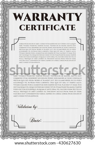 Warranty certificate stock images royalty free images vectors sample warranty certificate vector illustration artistry design with complex linear background yelopaper Images