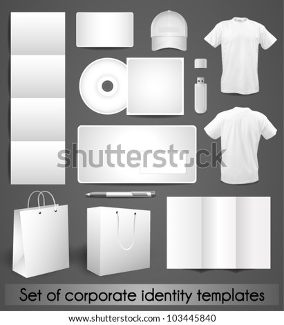Samples for corporate identity design - stock vector