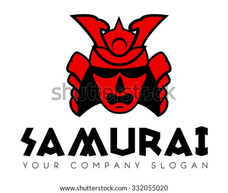 samurai face mask vector logo template stock vector 332055020 rh shutterstock com samurai logistics north dakota samurai lookas