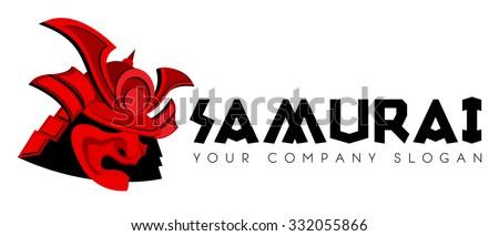 samurai face mask vector logo template stock vector 332055866 rh shutterstock com samurai logistics nd samurai logistics north dakota