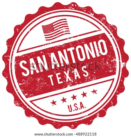 San Antonio Texas stamp